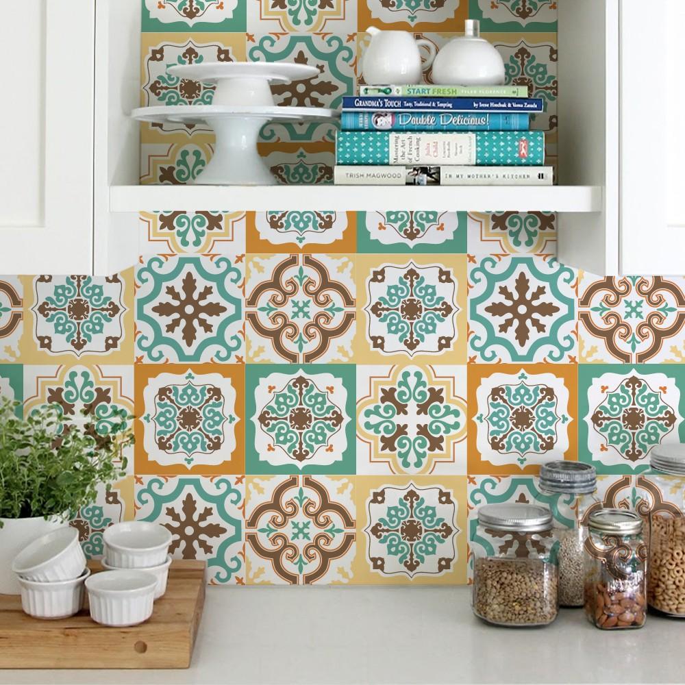 Azulejos com adesivo na cozinha